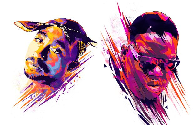 Awesome Illustrations of Rappers No Longer With Us- Tupac, Notorious B.I.G