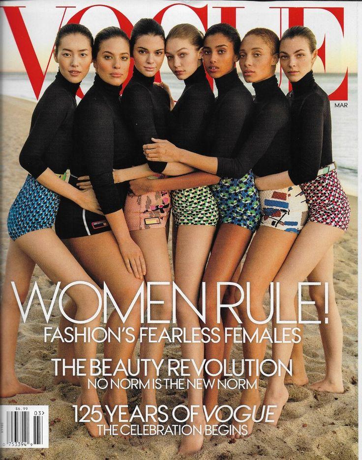 Vogue magazine Women rule The beauty revolution Kendall