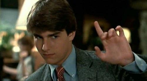 Tom Cruise como Joel Goodsen en la película 'Risky Business' (1983)