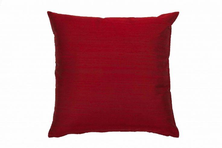 Capa de Almofada Seda Vermelha 45 x 45cm