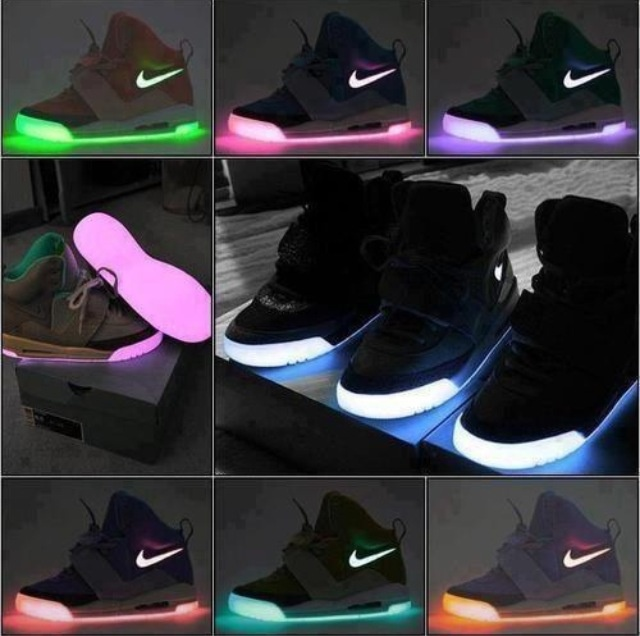 Wmns Nike LeBron 10 Glow in the Dark Black Red Silver