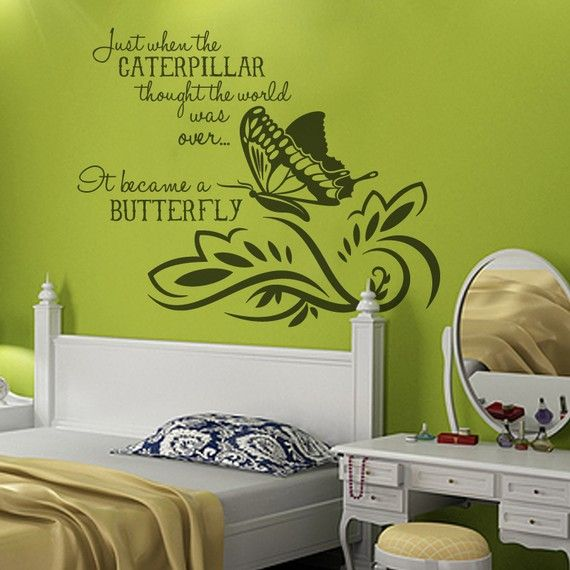 cute!Butterflies, World Quote Diy Wall Art, Girls Room, Vinyls Wall Decals, Favorite Quotes, Beautiful Quotes, Vinyl Wall Decals, Vinyls Wall Art, Girl Rooms