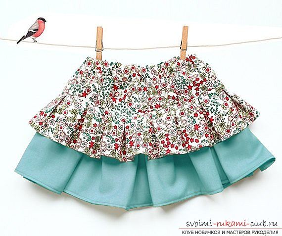 Летняя юбка для девочки выкройки