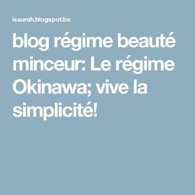 blog régime beauté minceur: Le régime Okinawa; vive la simplicité!