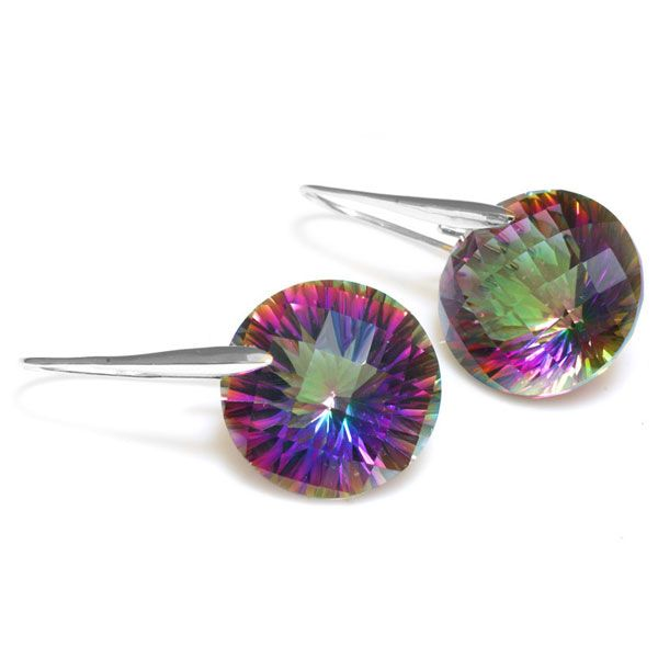 38.5ct Genuine Mystic Fire Rainbow Topaz Round Drop Earring  Only $43.29 => Save up to 60% and Free Shipping => Order Now!  #Bracelets #Mystic Topaz #Earrings #Clip Earrings #Emerald #Necklaces #Rings #Stud Earrings  http://www.gemstonese.com/product/38-5ct-genuine-mystic-fire-rainbow-topaz-round-drop-earring/