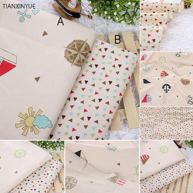 Океан якорь ткани 95% хлопок ткань для пэчворка ткань, пошив, подушки, подушки, постельные принадлежности простыни, квилтинга ремесла ткань