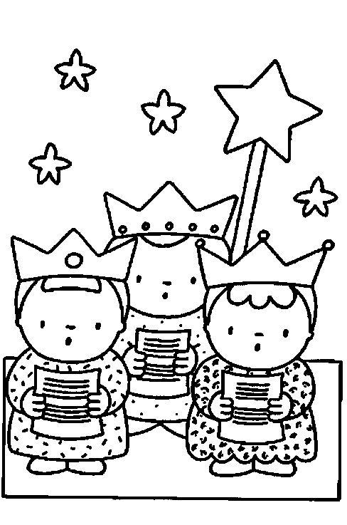 3 koningen kleurplaat