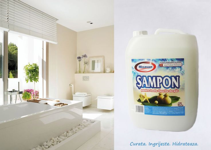 Sampon Misavan 5L recomandat pentru orice tip de par: http://www.produse-horeca.ro/baie/misavan-sampon-5l#sampon #misavan