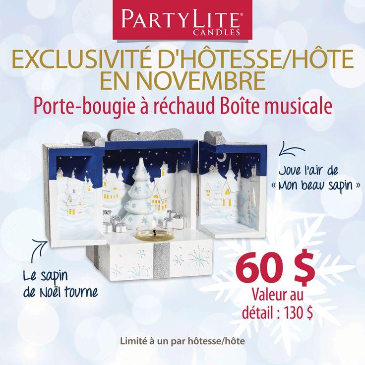 Magnifique cadeau à offrir à vos proches ou pour vous !  Contactez moi et je me ferai un plaisir de vous rencontrer  http://www.partylite.biz/sites/sylvieblouin