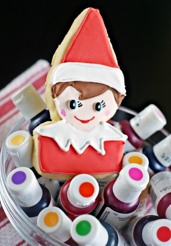 Elf on the Shelf Icing Idea