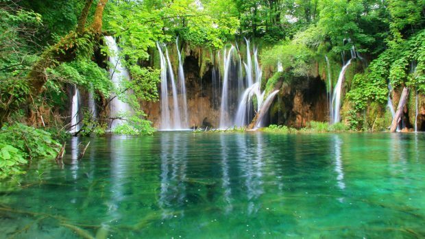 Desktop Download Hd Nature Backgrounds Plitvice Lakes National Park Waterfall Beautiful Places