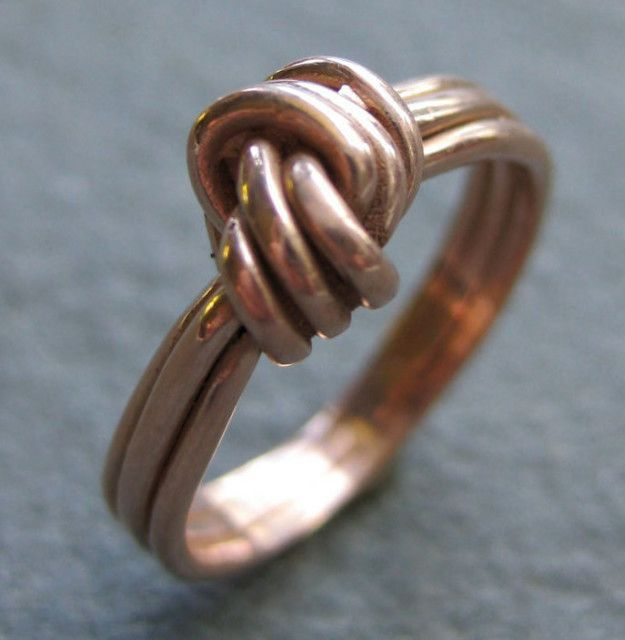 A simple rose gold knot ring for people who could care less about the bells (gems) and whistles (minerals).