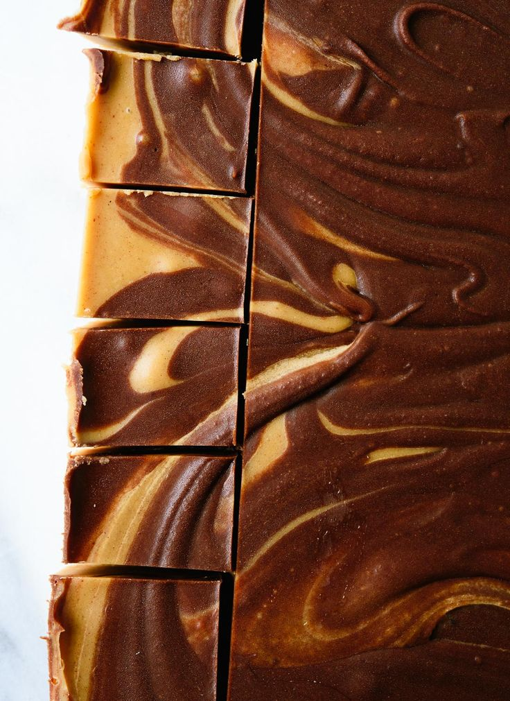 Chocolate Peanut Butter Swirl Fudge - Cookie and Kate