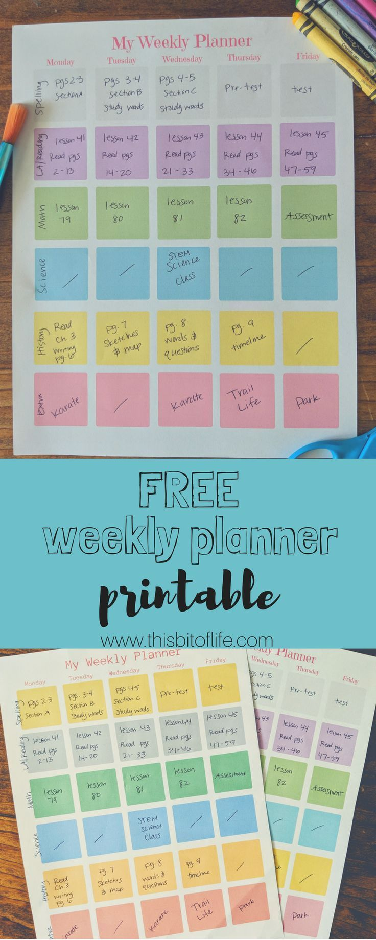Free Homeschool Planner Printable (With images