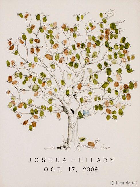 Livro de assinatura: árvore de digitais para download | Blog do Casamento - O blog da noiva criativa! | Downloads, Papelaria