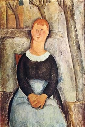The Pretty Vegetable Vendor - Amedeo Modigliani