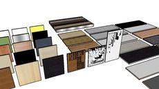3D Model of IKEA kitchen doors, worktops, kickboards & handles