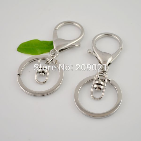 Finding 50Sets Rhodium Plated Lobster Clasps Swivel Trigger Clips Snap Hooks Bag Key Ring