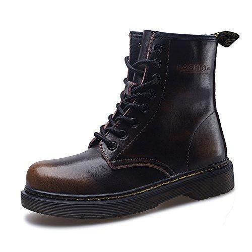Oferta: 38.99€ Dto: -15%. Comprar Ofertas de SITAILE Moda Invierno Zapatos Martin Boots Botines Botas de Nieve Botas para Hombre Mujer,marrón,42 barato. ¡Mira las ofertas!