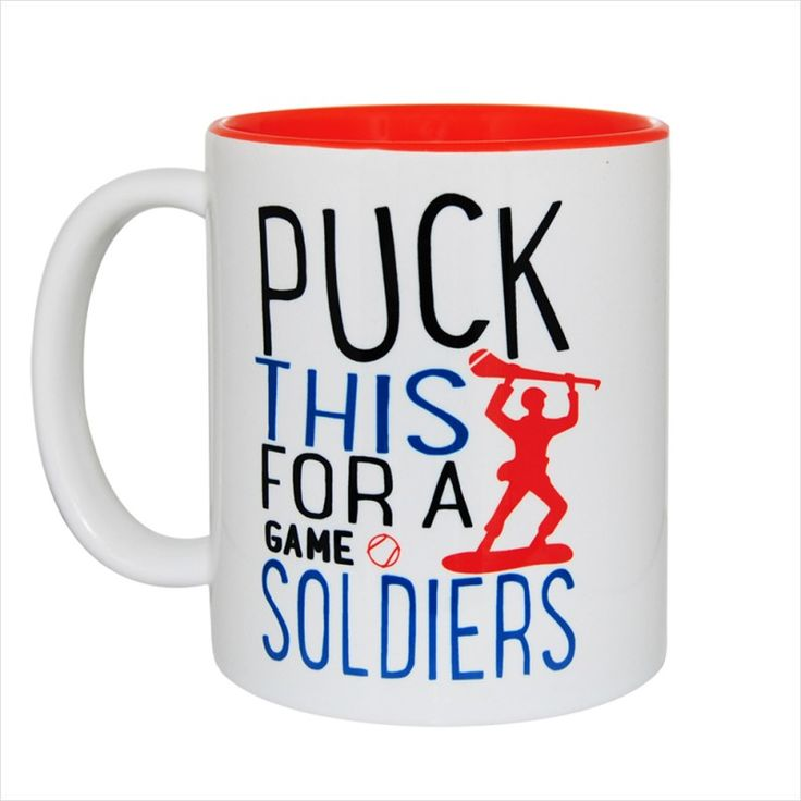 Puck This For A Game of Soldiers Gift Mug & Tin/Box by HairyBaby.com