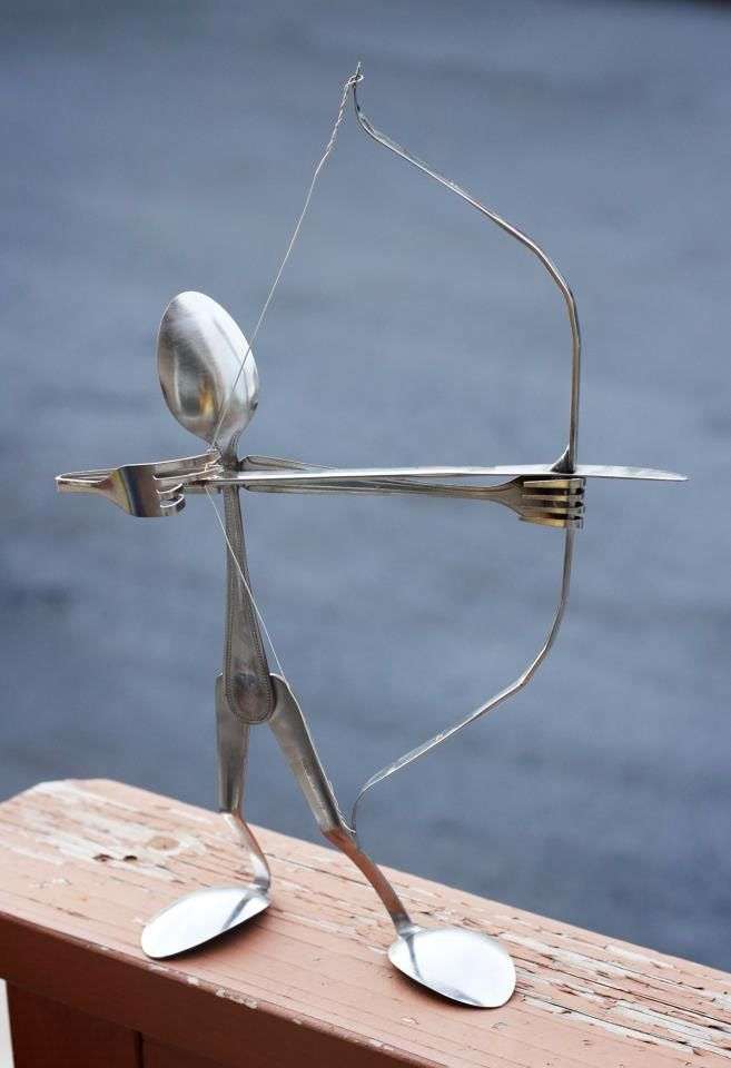 Then she made...: Compliments to the Creative Crafter: Forked Up Art :)