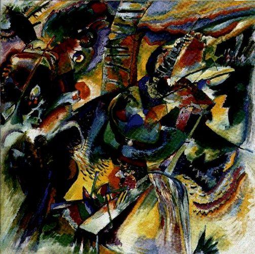 'Improvisation Ravine', huile de Wassily Kandinsky (1866-1944, Russia)