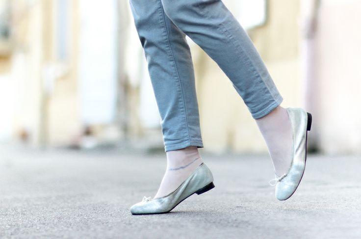 ballerines argentées / silver shoes / pastel street look / pastel colors / Artlex fashion blog / Fashion blogger