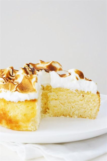 ... Lemon Syrup Coconut Cake with Toasted Meringue Frosting (Gluten Free