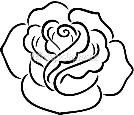 1000+ ideas about Rose Outline on Pinterest | Tattoos ...