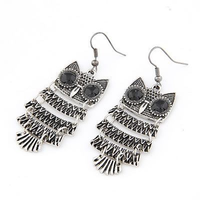 Korean Vintage Personality Fashion OWL Shape Design Earrings General. Fashionable with passion REPIN if you like it.😊 Only 25.5 IDR