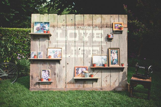 Crafty Reclaimed Wood Wedding: Chase + Aaron