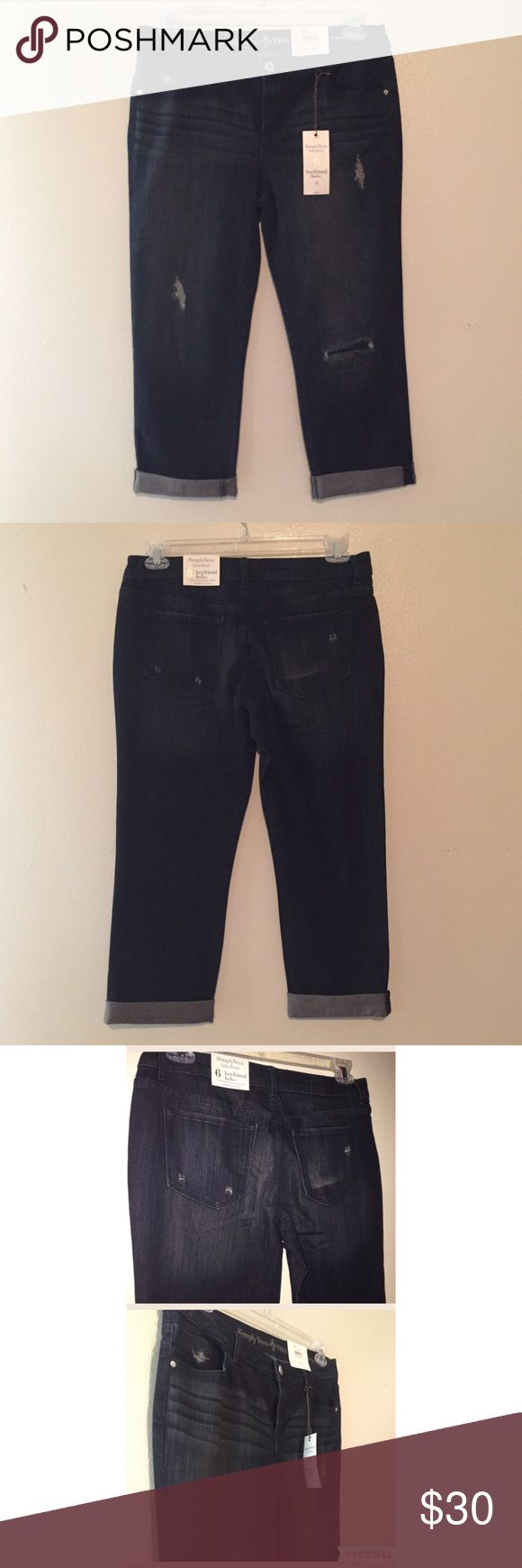 🎉Final Price Drop🎉Simply Vera Boyfriend Capri 6 Simply Vera by Vera Wang Boyfriend Capri Size 6. Brand new with tags! Simply Vera Vera Wang Pants Capris