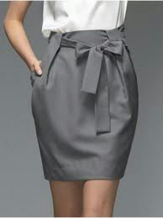 Paper bag skirt are so great for work