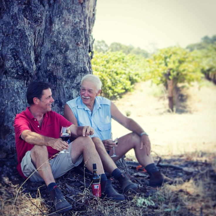 Pictured are Wayne Dutschke and Ken Semmler, long term contributors to the Barossa Grounds project.