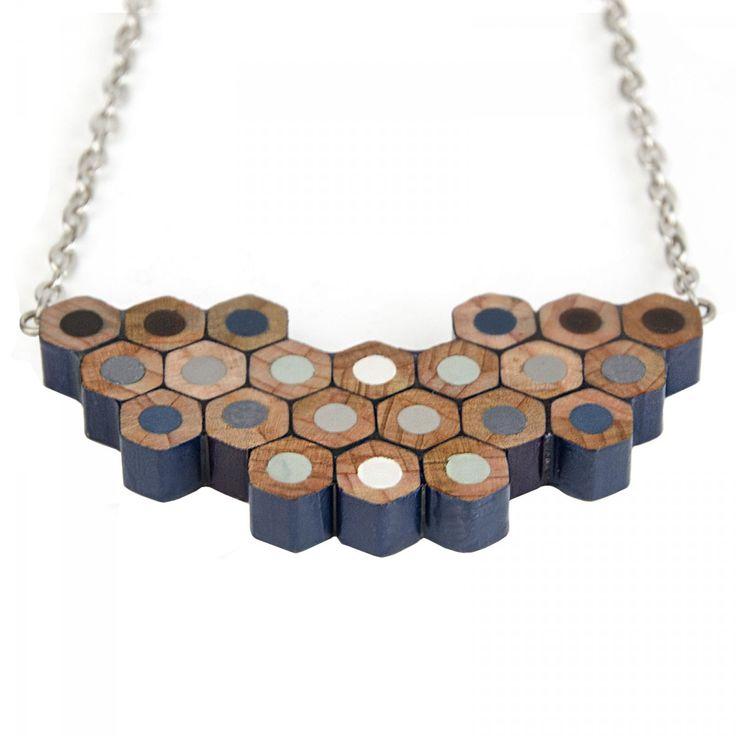 Blue Colour Spectrum Pencil Necklace | Jewellery | Accessories | Ohh Deer