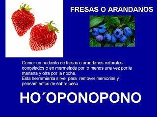 FRESAS O ARANDANOS - HOOPONOPONO EL PODER DEL AMOR