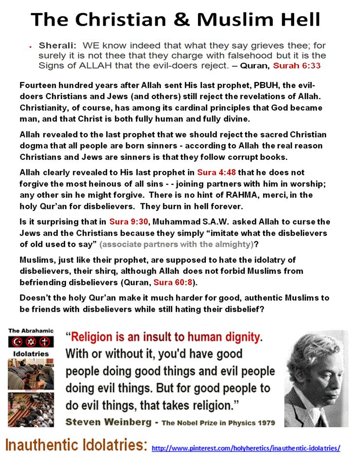 """Revelations versus Reason:  https://www.pinterest.com/pin/540924605223882256/ Doesn't the holy Qur'an make it much harder for good, authentic Muslims to be friends with disbelievers while still hating their disbelief? """"The most detestable wickedness, the most horrid cruelties, and the greatest miseries, that have afflicted the human race, have had their origin in this thing called revelation, or revealed religion."""" -- Thomas Paine https://www.pinterest.com/pin/540924605223912364/"""