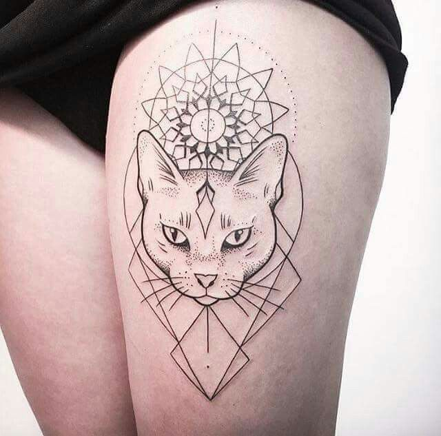 Cat Tattoos Every Cat Tattoo Design Placement And Style: 1000+ Ideas About Geometric Tattoo Animal On Pinterest