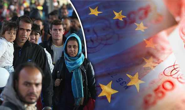 "THE European Union migrant crisis is ""shaking confidence"" in the bloc and will cost member countries up to £20billion this year alone, a respected economic think tank warned yesterday."