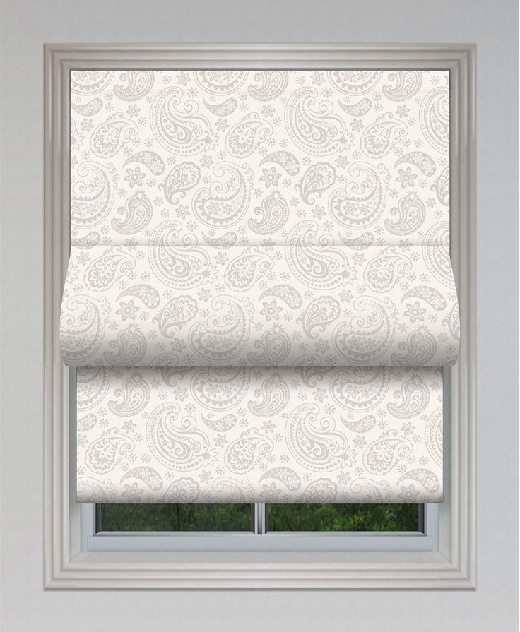 Paisley Print Sewless Roman Blind #roman #blinds