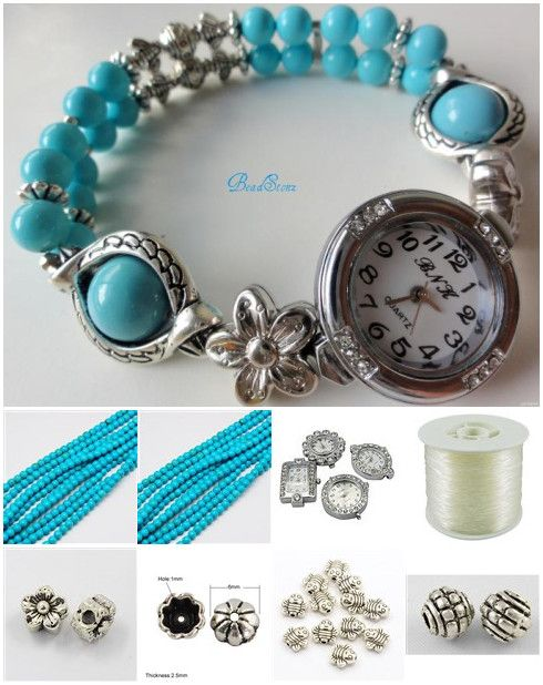 turquoise beaded watch