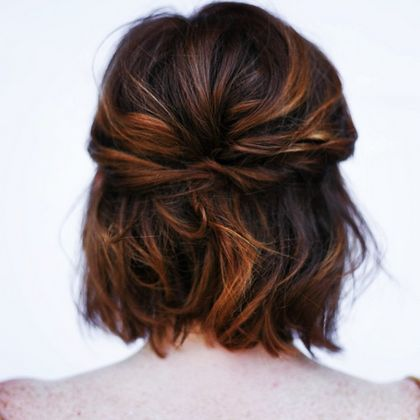 medium length wedding hair  ~  we ❤ this! moncheribridals.com #halfuphalfdownweddinghair