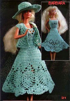 Barbie Crochet Miniaturas Artesanato e Coisas Mais de Tudo Um Pouco e Muito Mais: VESTIDO, CHAPÉU E BOLERO DE CROCHÊ PARA BARBIE COM...