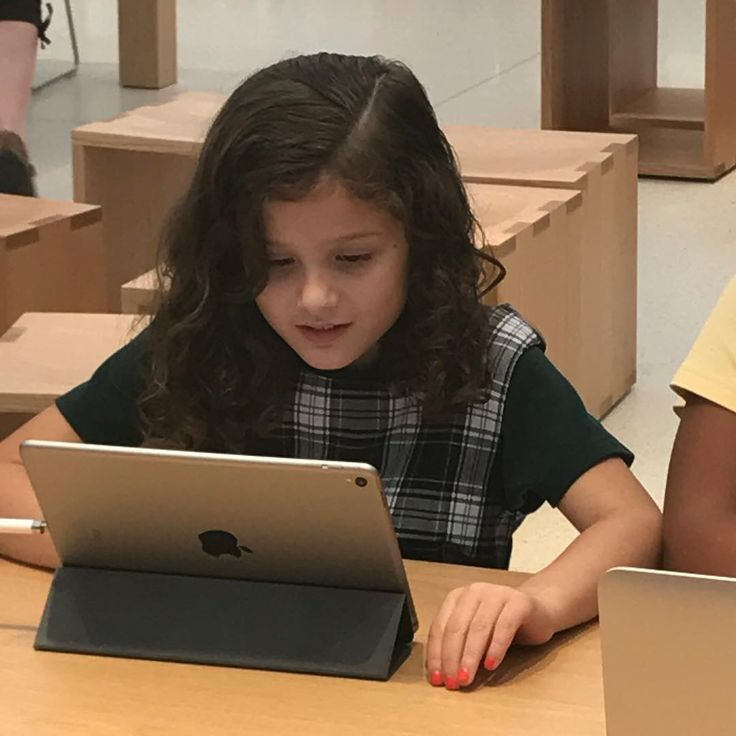 On a field trip to the Apple Store.
