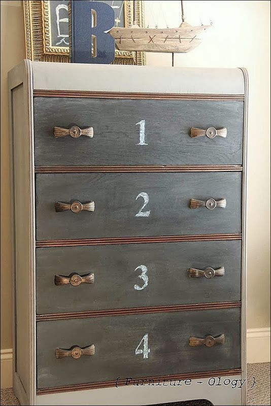 painted waterfall dresser - Google Search
