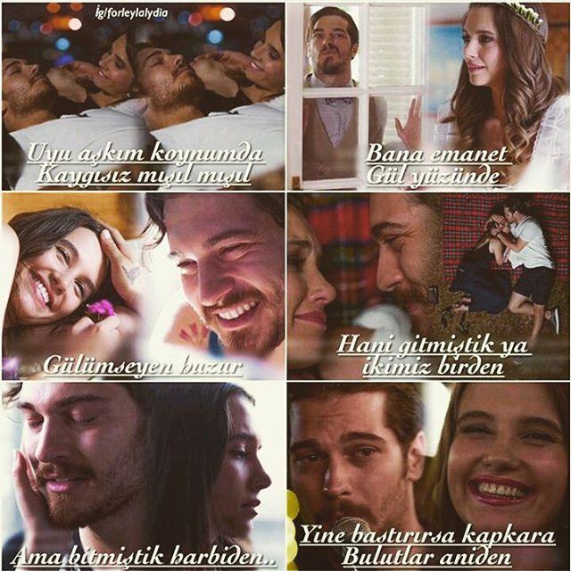 """""""Uyu aşkım koynumda Kaygısız mışıl mışıl  Bana emanet Gül yüzünde  Gülümseyen huzur  Hani gitmiştik ya ikimiz birden Ama bitmiştik harbiden... Yine bastırırsa kapkara  Bulutlar aniden..."""" -""""Mutlu Sonsuz""""&Çağatay Ulusoy (Delibal)  Edit: @forleylalydia"""
