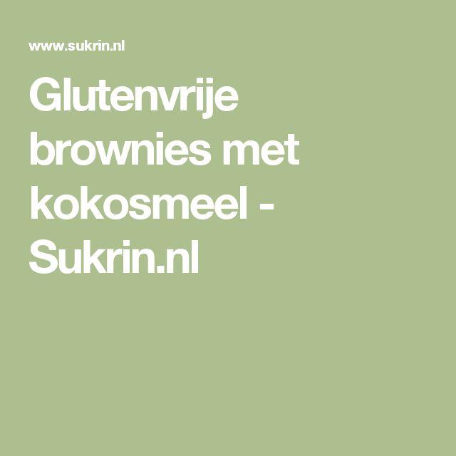 Glutenvrije brownies met kokosmeel - Sukrin.nl