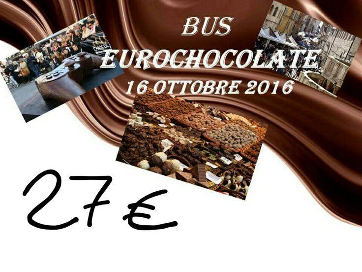 https://www.facebook.com/events/288524971529325/?ti=cl  Bus per Eurochocolate a Perugia Dalle Marche.  Prezzo: 27€ a persona Partenza da Fermo alle 8:30