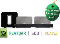 Sonos Wireless 5.1 System - 2 x PLAY3 Wireless Hifi System White, PLAYBAR Soundbar & SUB Subwoofer