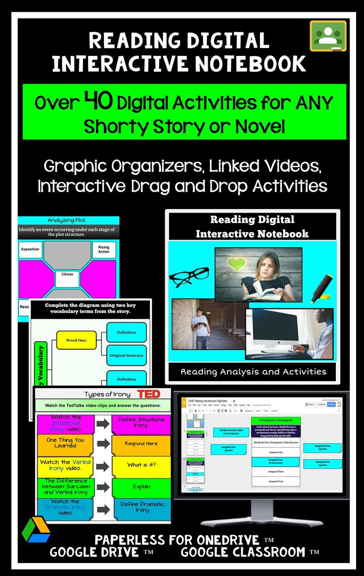 Over 40 Google Classroom Graphic Organizers and Paperless Digital Reading Activities for the Secondary Classroom!  Includes over high-interest reading activities, video links, and creative options! Use with ANY short story, novel unit, or independent reading choice!